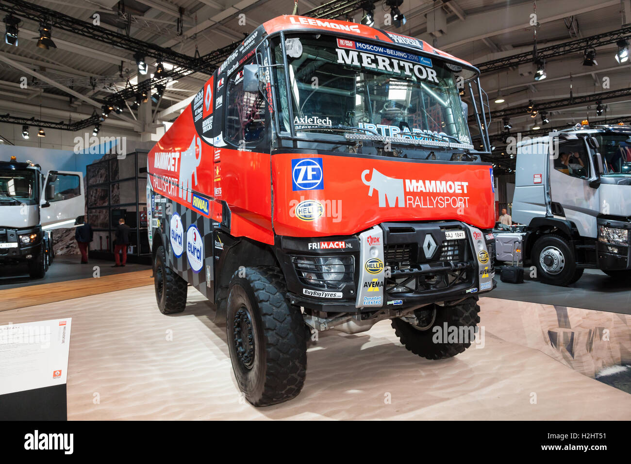 Hood KAMAZ - sports modification for participation in rally Paris - Dakar
