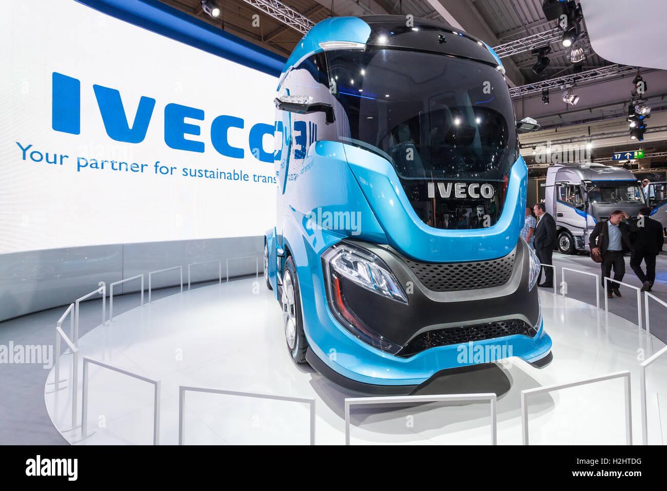 IVECO Z Truck - a  zero impact autonomous driving concept truck - Stock Image