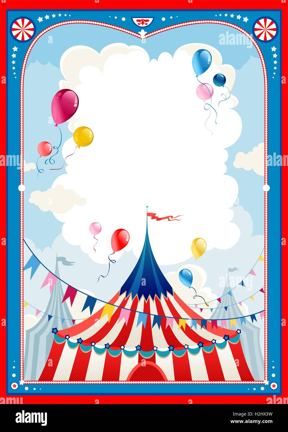 Circus frame Stock Vector Art & Illustration, Vector Image ...