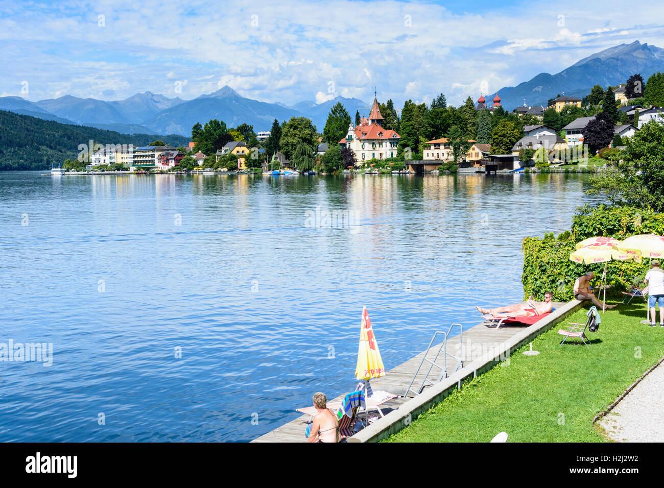Millstatt am See: Lake Millstatt, town and Abbey, , Kärnten, Carinthia, Austria - Stock Image