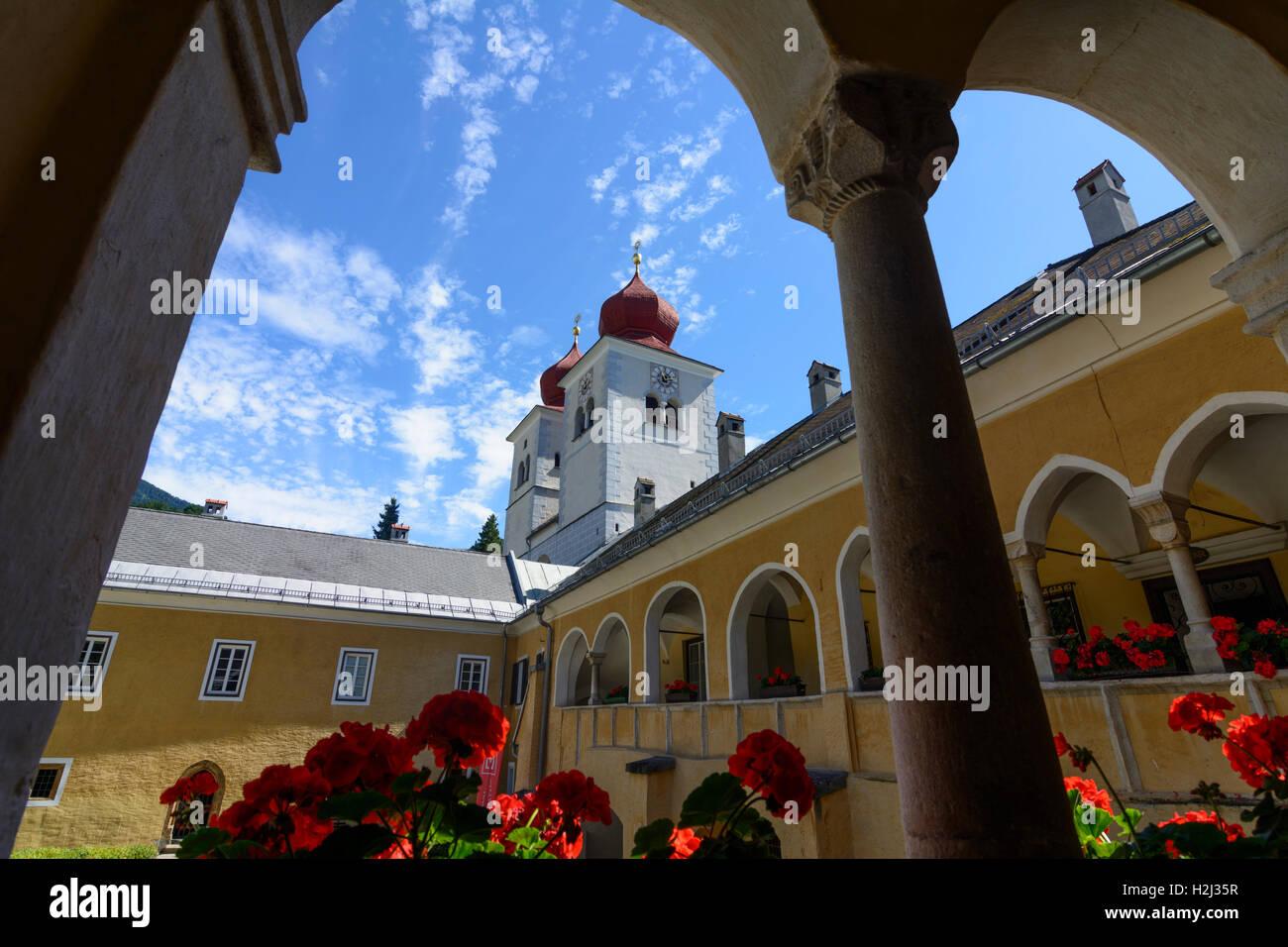 Millstatt am See: Millstatt Abbey monastery church, , Kärnten, Carinthia, Austria - Stock Image