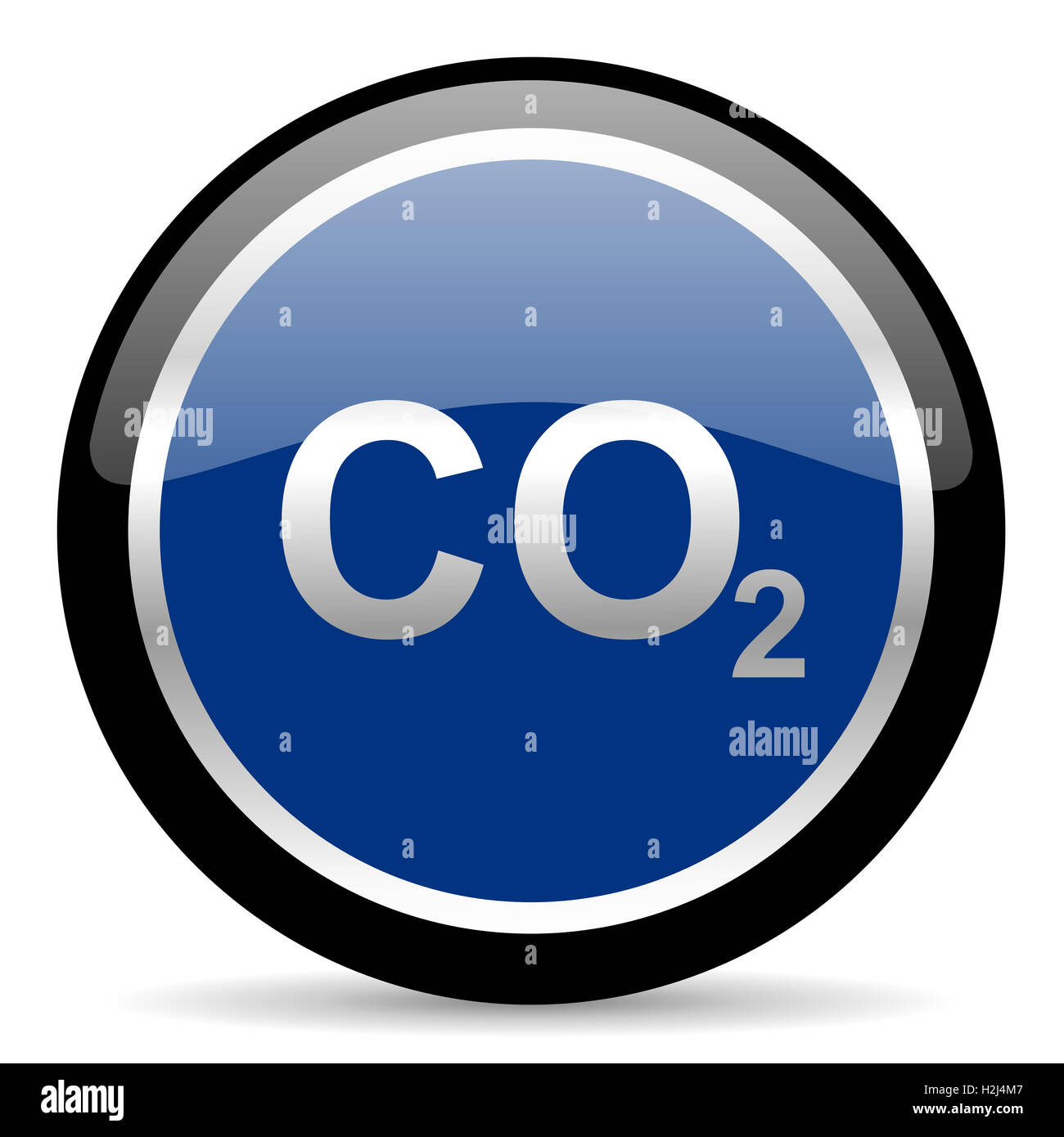 carbon dioxide icon - Stock Image