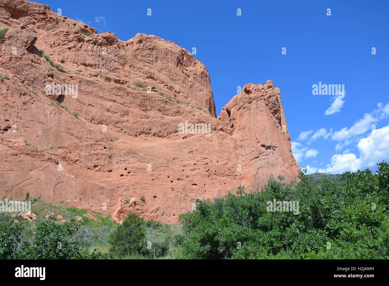 Sandstone formations at Garden of the Gods Park in Colorado Springs - Stock Image