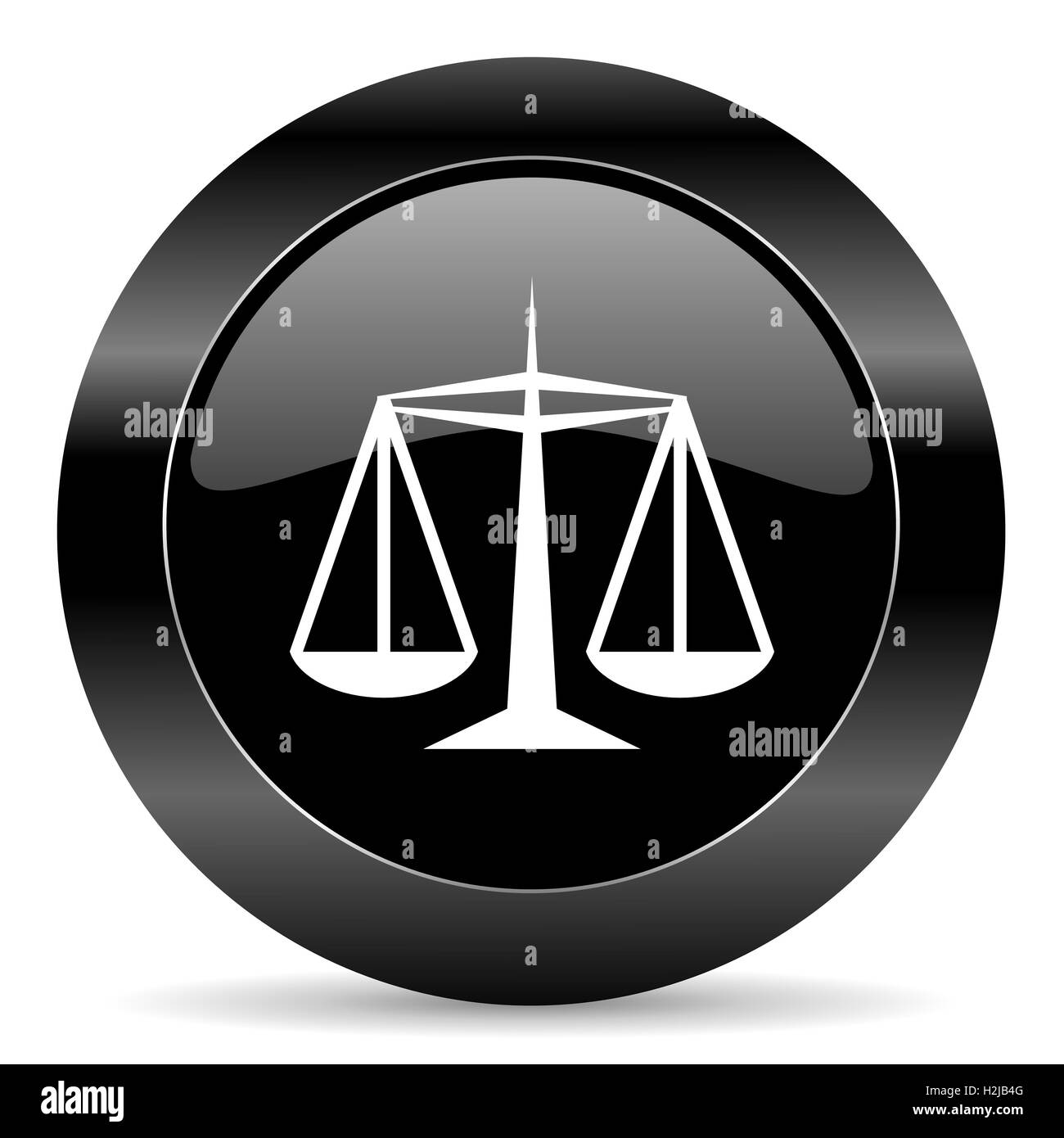 justice icon - Stock Image