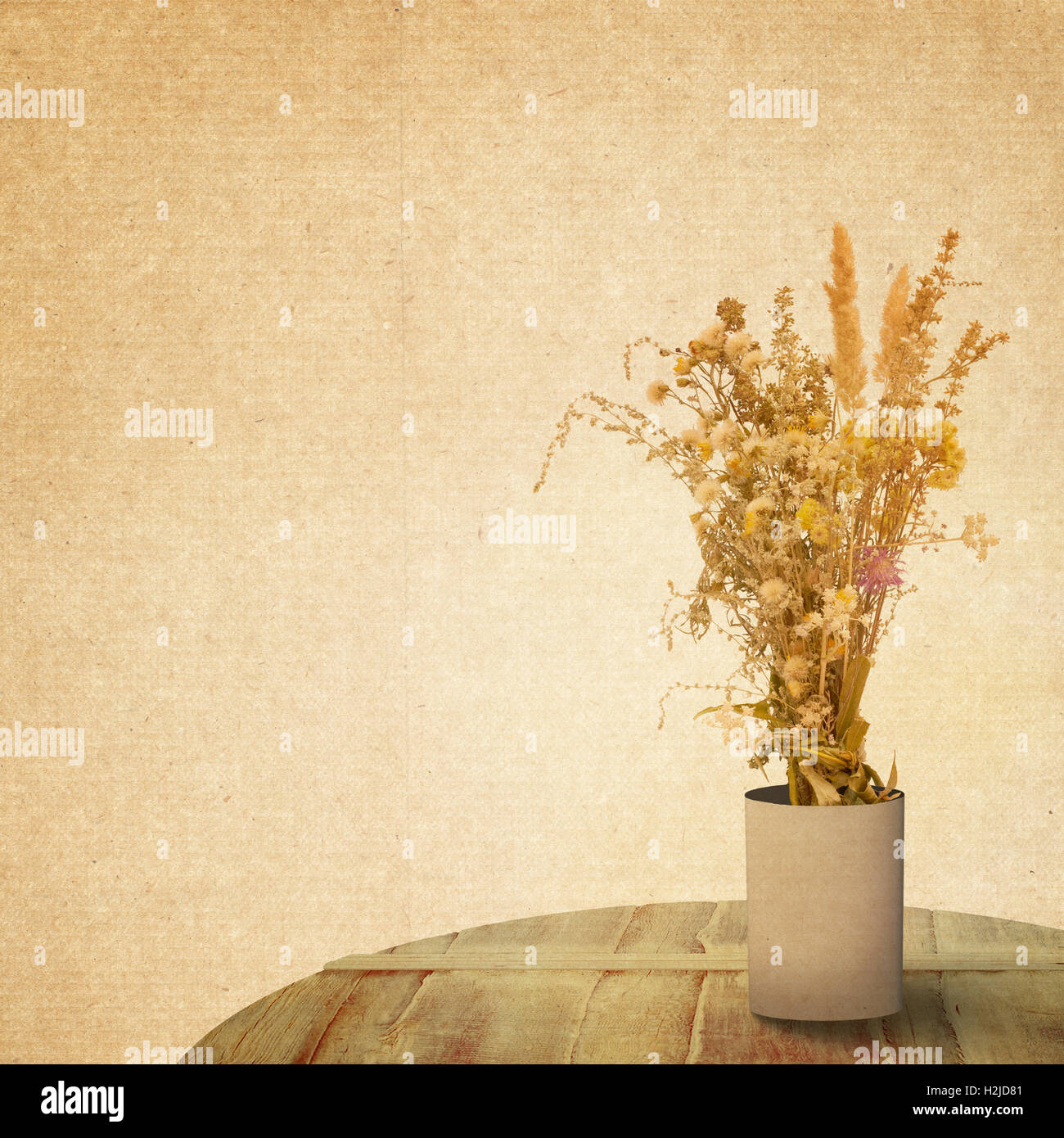 Textured Old Paper Background With Flower Stock Photo 122107441 Alamy
