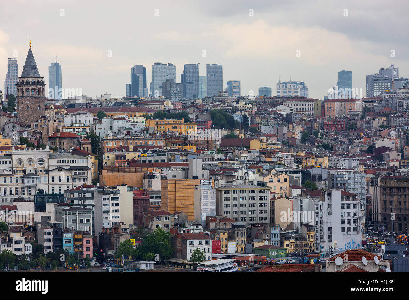 Skyline of Istanbul, Turkey - Stock Image
