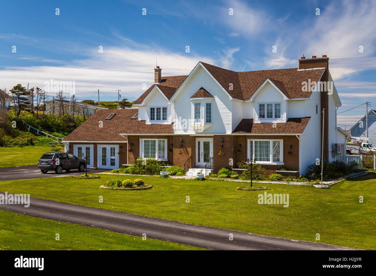 A modern home near Port au Choix, Newfoundland and Labrador, Canada. - Stock Image