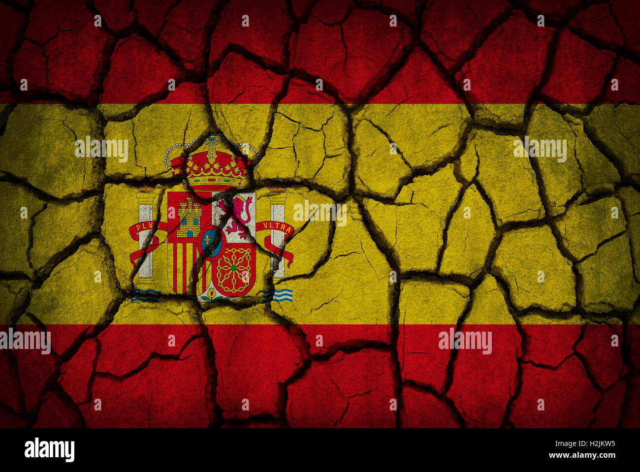 Spain Flag Painted On Old Stock Photos & Spain Flag Painted On Old ...