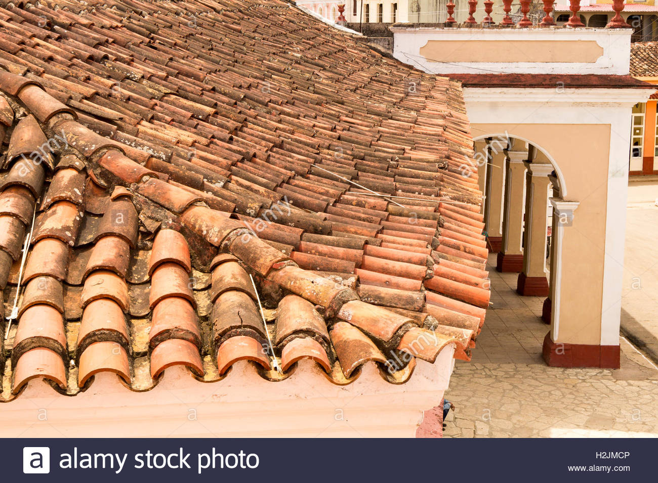 Spanish Roof Tiles High Resolution Stock Photography And Images Alamy