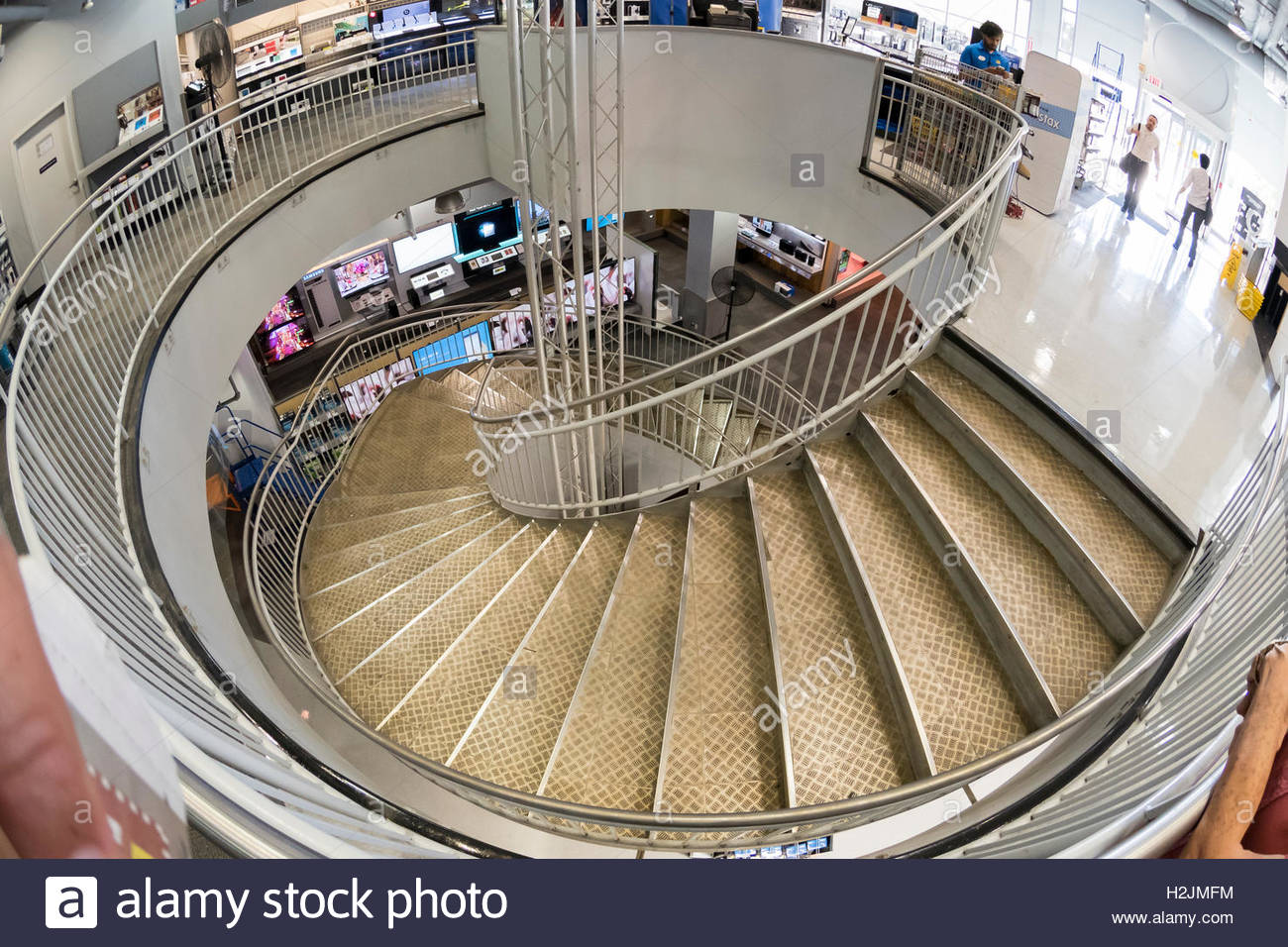 Circular Stair At Best Buy Store At North York. Best Buy Is An American  Multinational