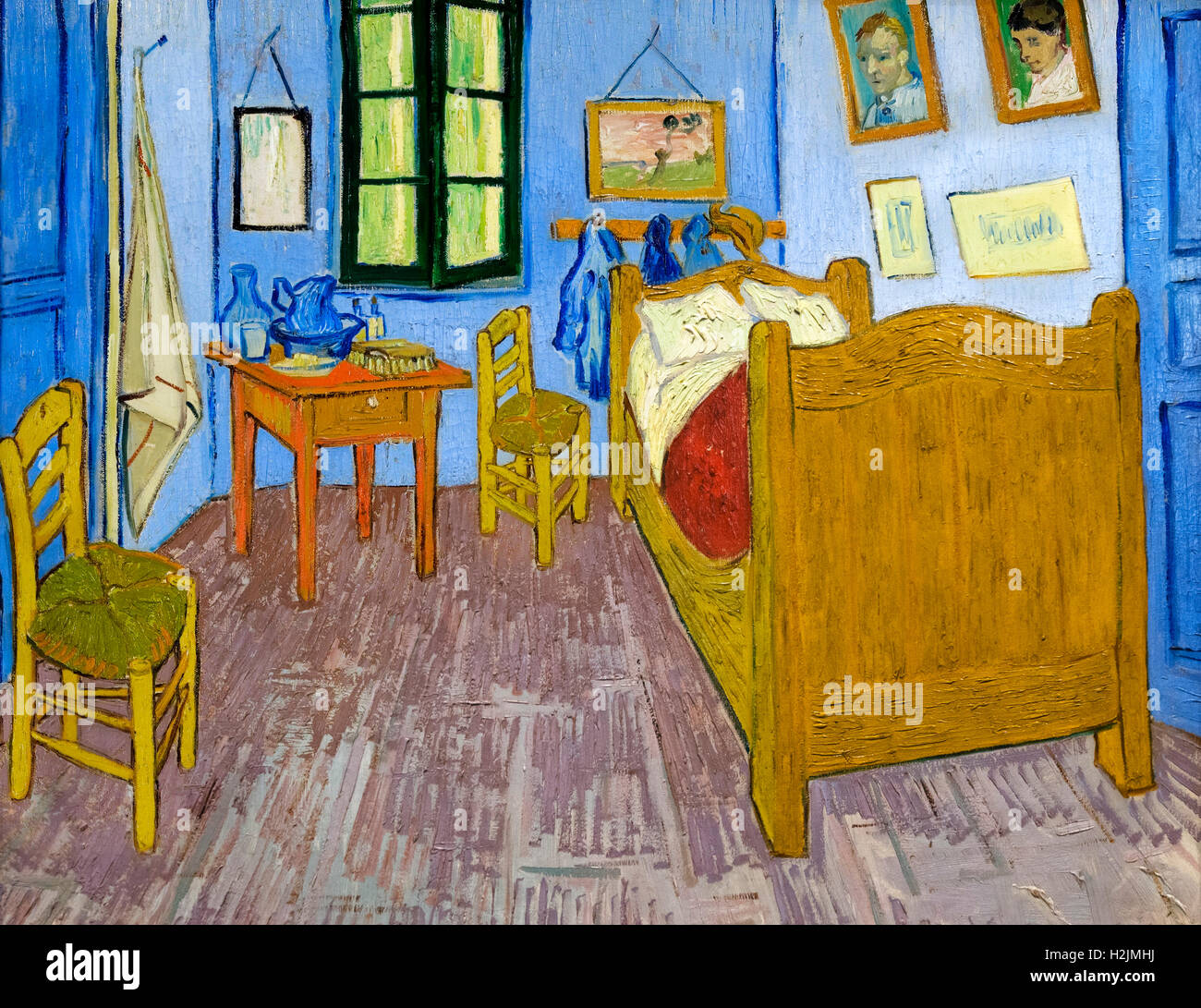 la chambre de vincent arles vincent 39 s bedroom at arles by vincent stock photo 122113198 alamy. Black Bedroom Furniture Sets. Home Design Ideas