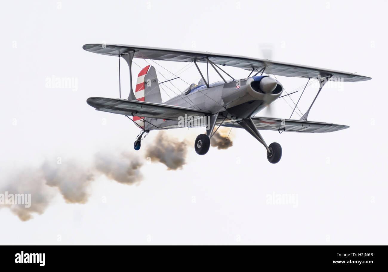 Vintage single seater biplane. - Stock Image
