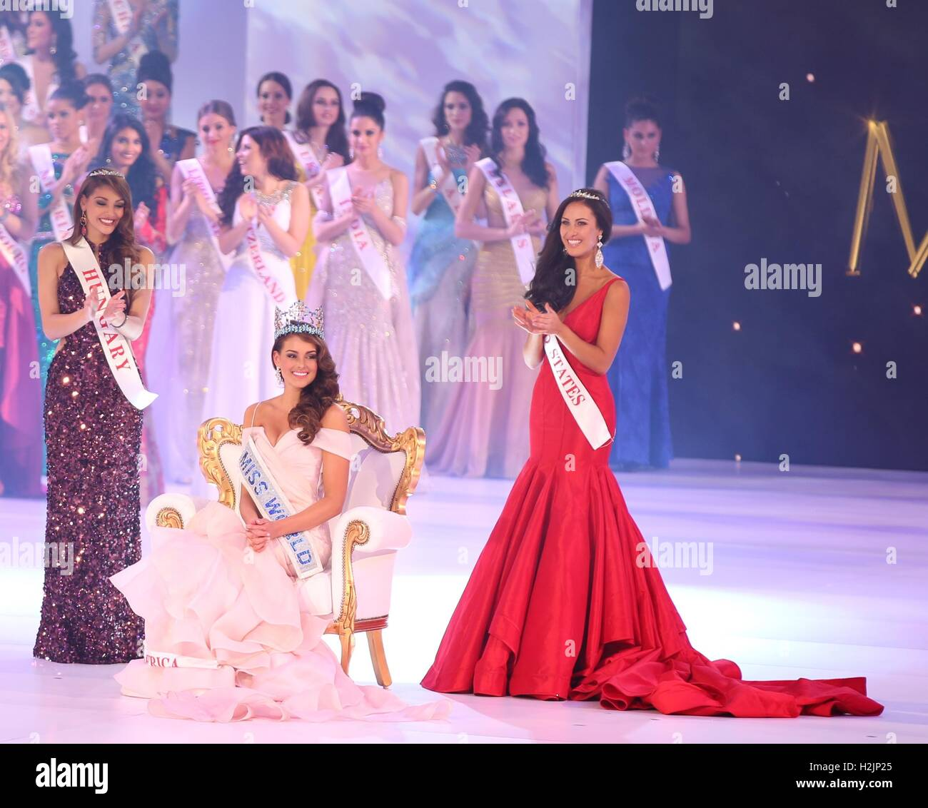 MISS WORLD PAGEANT 2014 Stock Photo