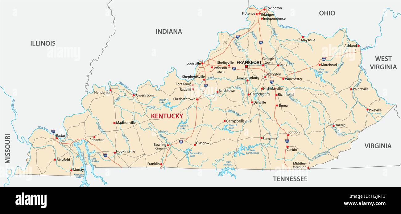 Map Of Kentucky Stock Photos & Map Of Kentucky Stock Images - Alamy