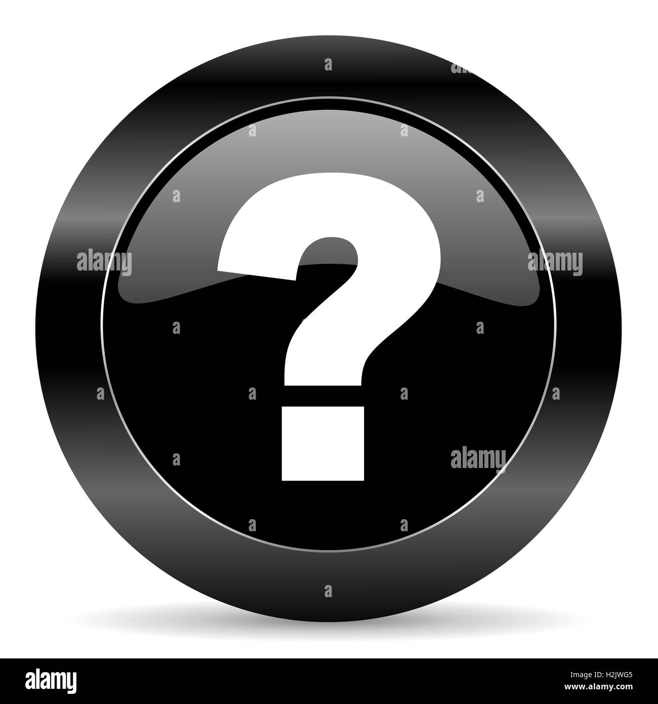 question mark icon - Stock Image