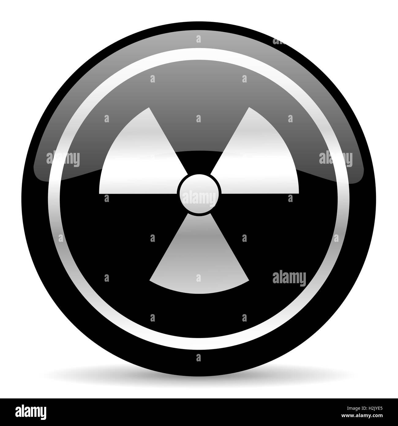 radiation icon - Stock Image