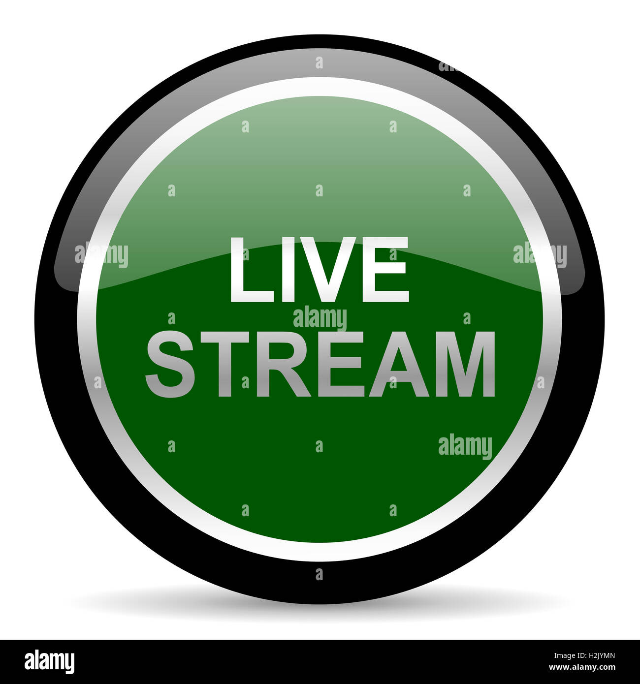 live stream icon - Stock Image