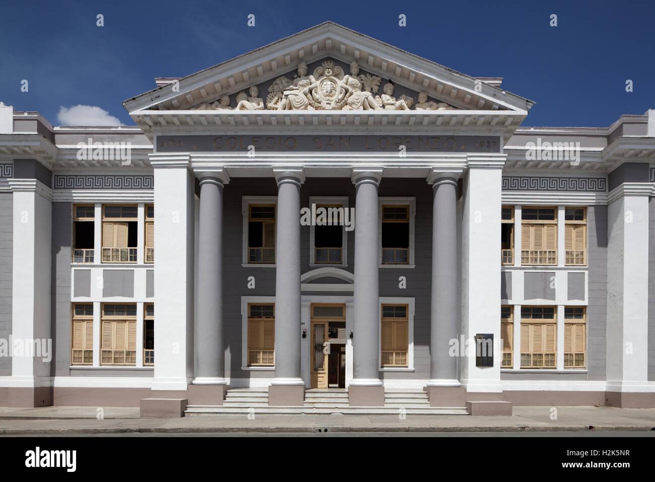 University, Colegio San Lorenzo, historic city centre, Cienfuegos, Cienfuegos Province, Cuba - Stock Image