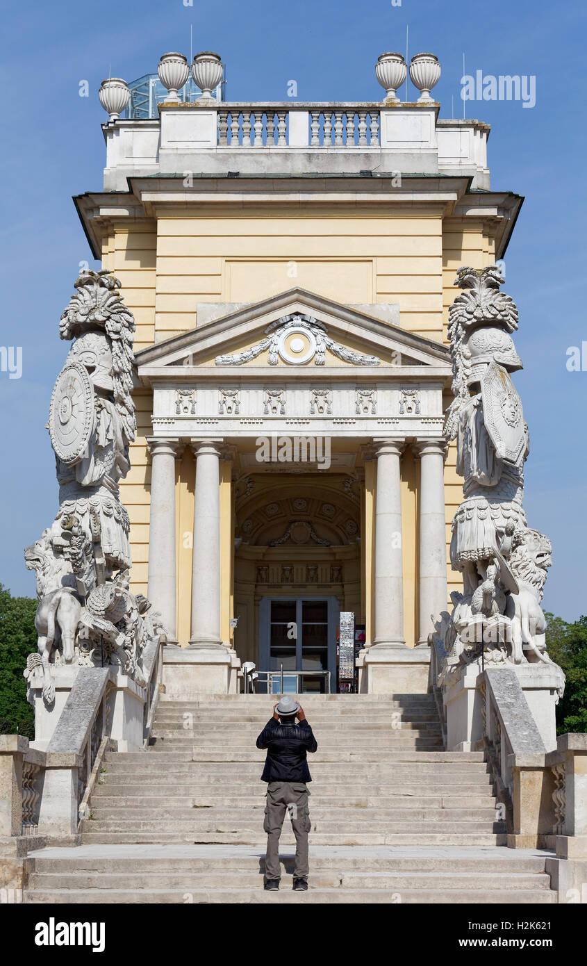 Stairway to Gloriette, Schönbrunn Palace, Hietzing, Vienna, Austria - Stock Image