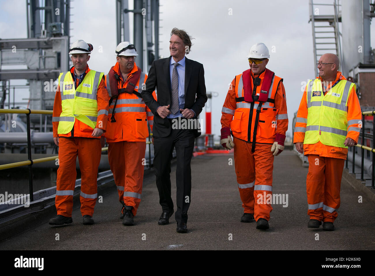 Jim Ratcliffe chief executive officer of the Ineos chemicals group, - Stock Image