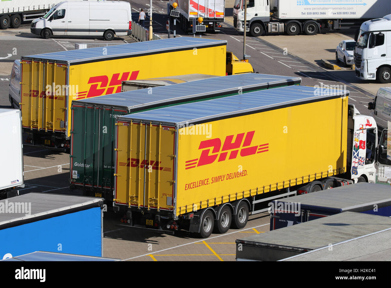 LONDON HEATHROW CARGO TERMINAL - Stock Image