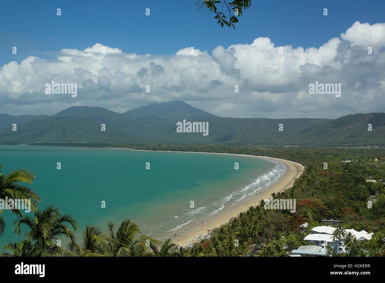 Tropical Four Mile Beach at Port Douglas, Queensland, Australia - Stock Image
