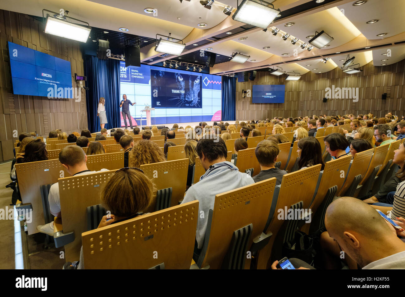 People attend business conference - Stock Image
