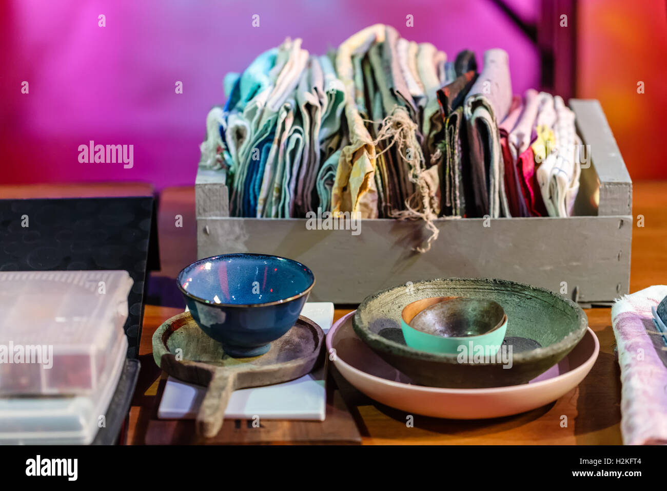 Accessories for photographing of food, products and still lifes - Stock Image