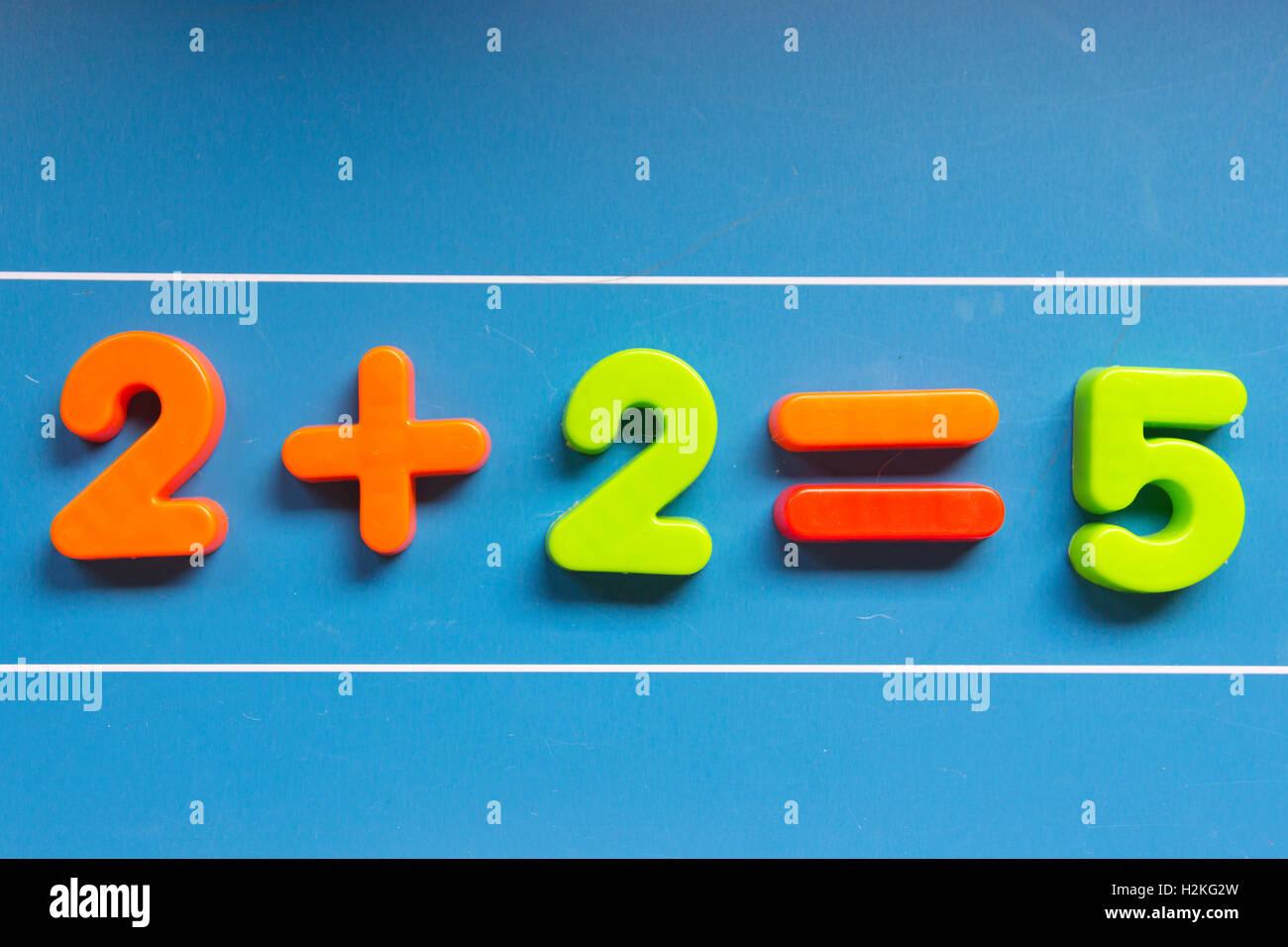 Blackboard, math error - Stock Image