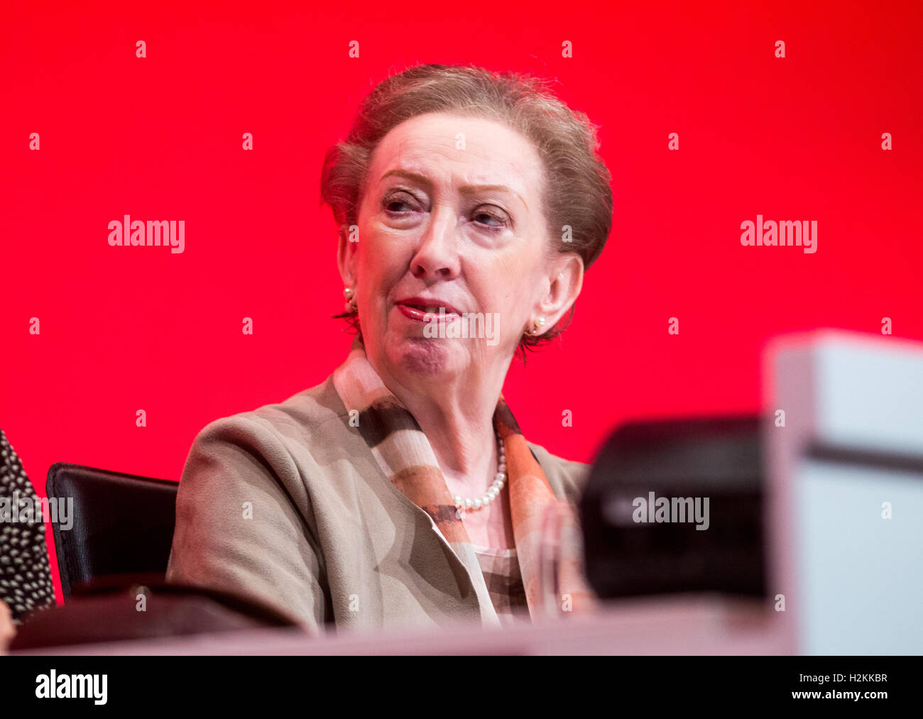 Margaret Beckett at the Labour party conference in Liverpool 2016.She is the MP for Derby South - Stock Image