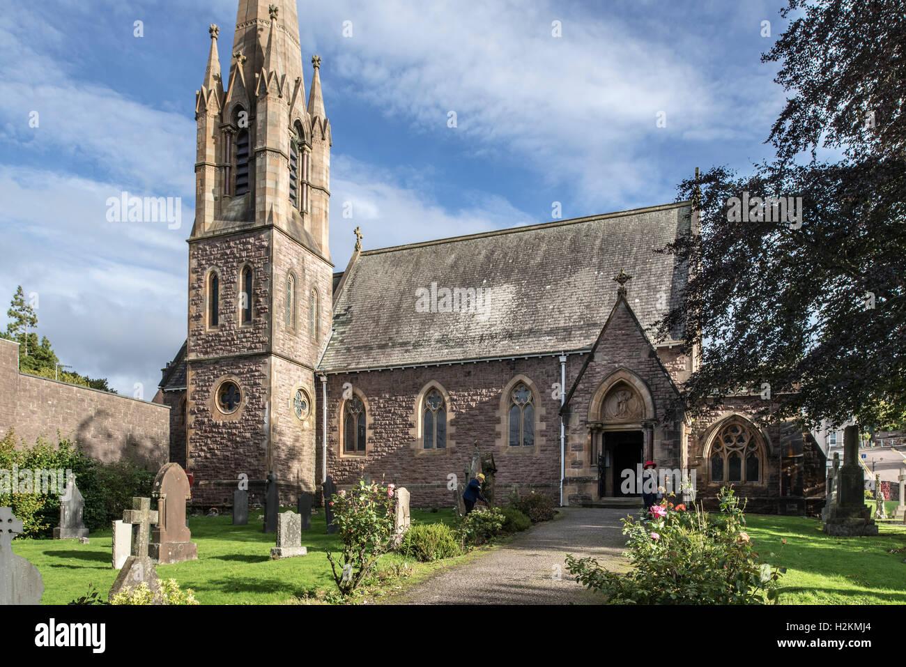 Saint Andrew's Church at Fort William, Scottish Highlands, Scotland, UK Stock Photo
