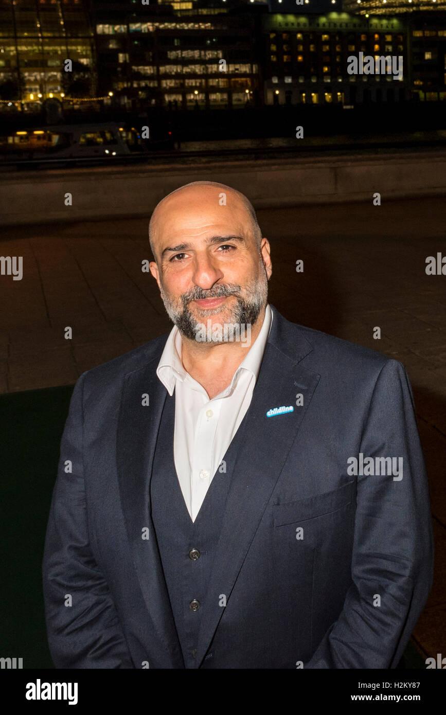 London, UK.  29 September 2016.  Actor/comedian, Omid Djalili attends the Childline Ball at Old Billingsgate Market - Stock Image