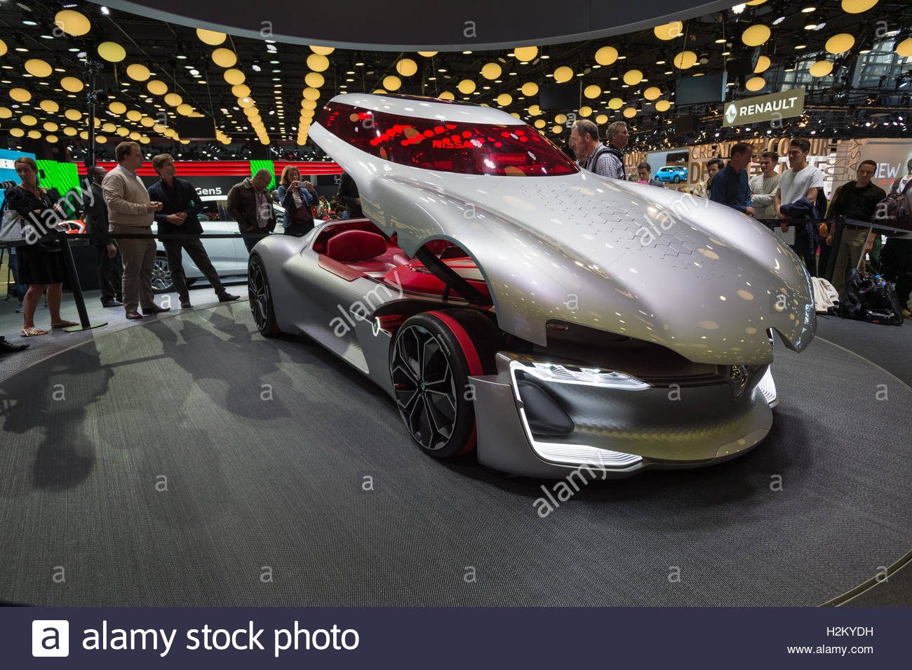 Paris, France. 29th Sep, 2016. A Peugeot concept car is presented on ...
