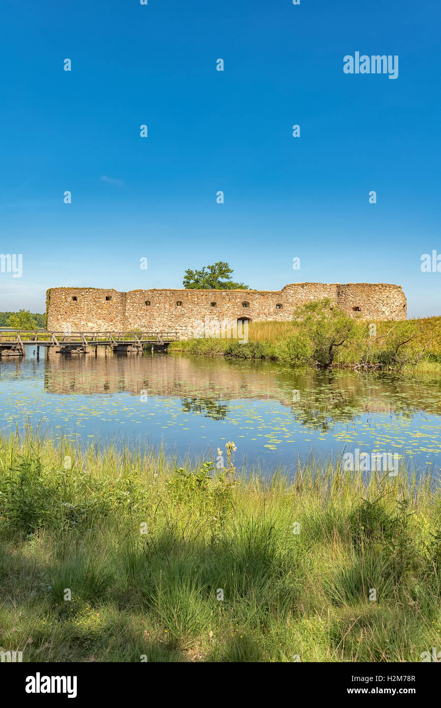 Kronobergs castle ruin in the smaland region of Sweden close to the city of Vaxjo. - Stock Image