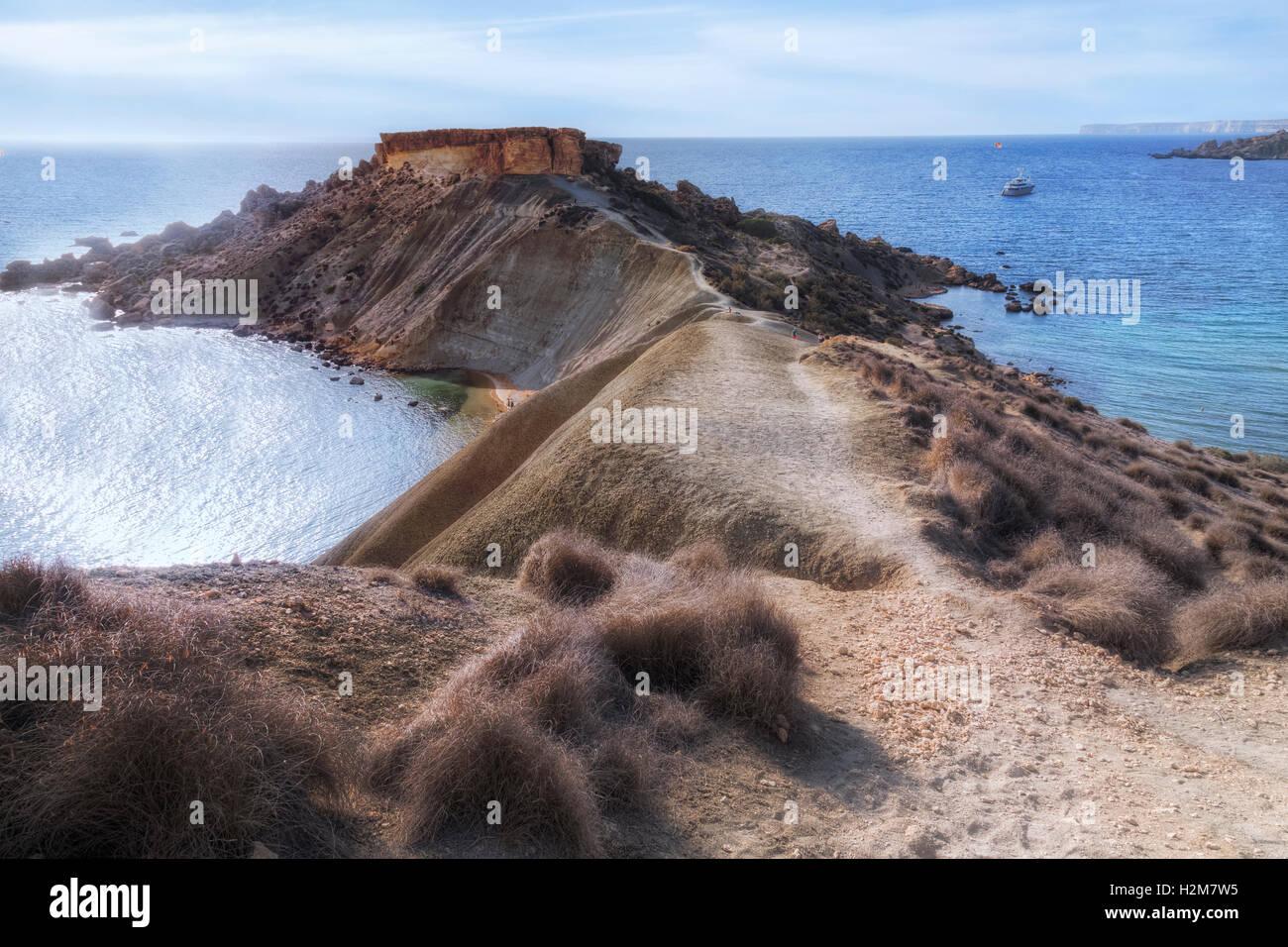 Il-Karraba, Gnejna Bay, Golden Bay, Malta - Stock Image