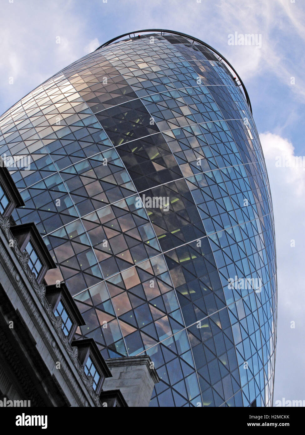 30 St Mary Axe,Gherkin,Swiss Re Building,City Of London,England - Stock Image