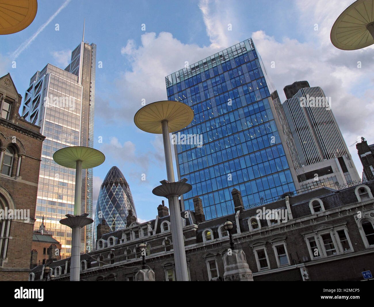 Liverpool Street Station, rail terminus, city of London, South East England, UK - Stock Image