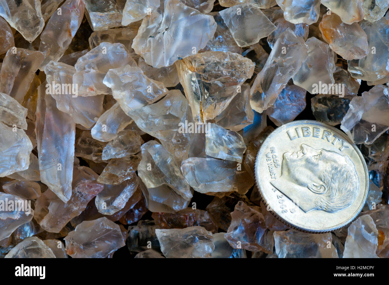 Oregon sunstones (official Oregon State gemstone). - Stock Image