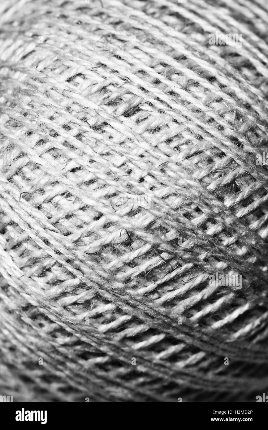 Thread texture background close up macro - Stock Image