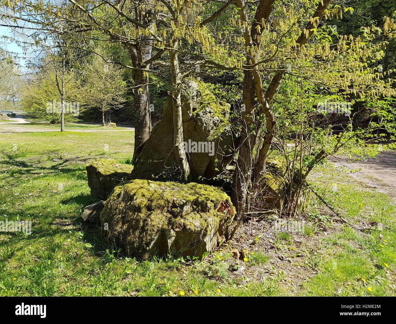 Felsen, Landschaft, Findlinge - Stock Image