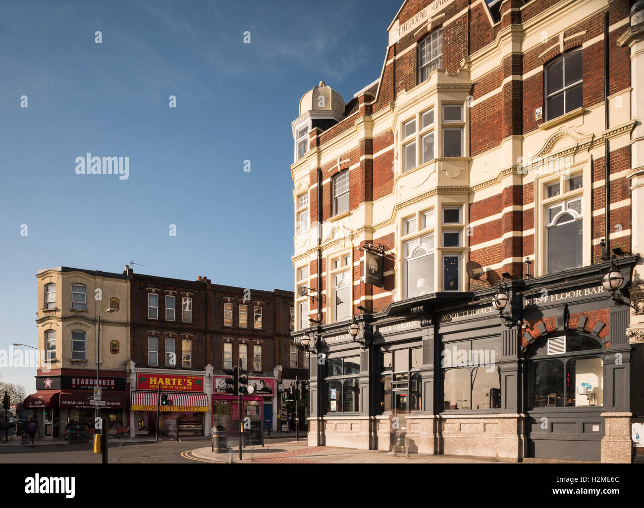 Street scene in Harlesden, London, UK - Stock Image