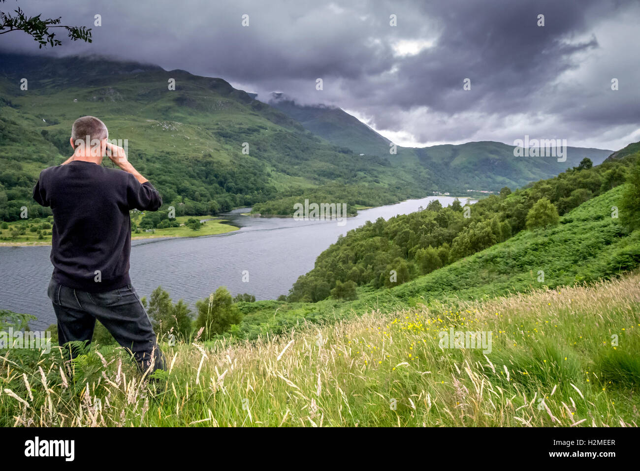 Views and outlooks in the Scottish Highlands - Stock Image