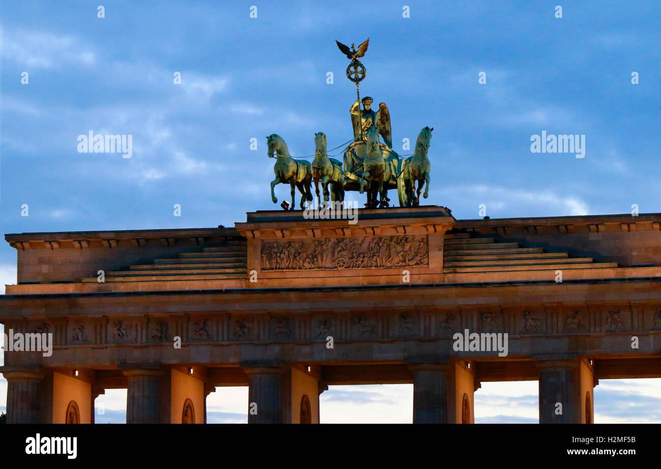 Brandenburger Tor, Berlin-Mitte. - Stock Image
