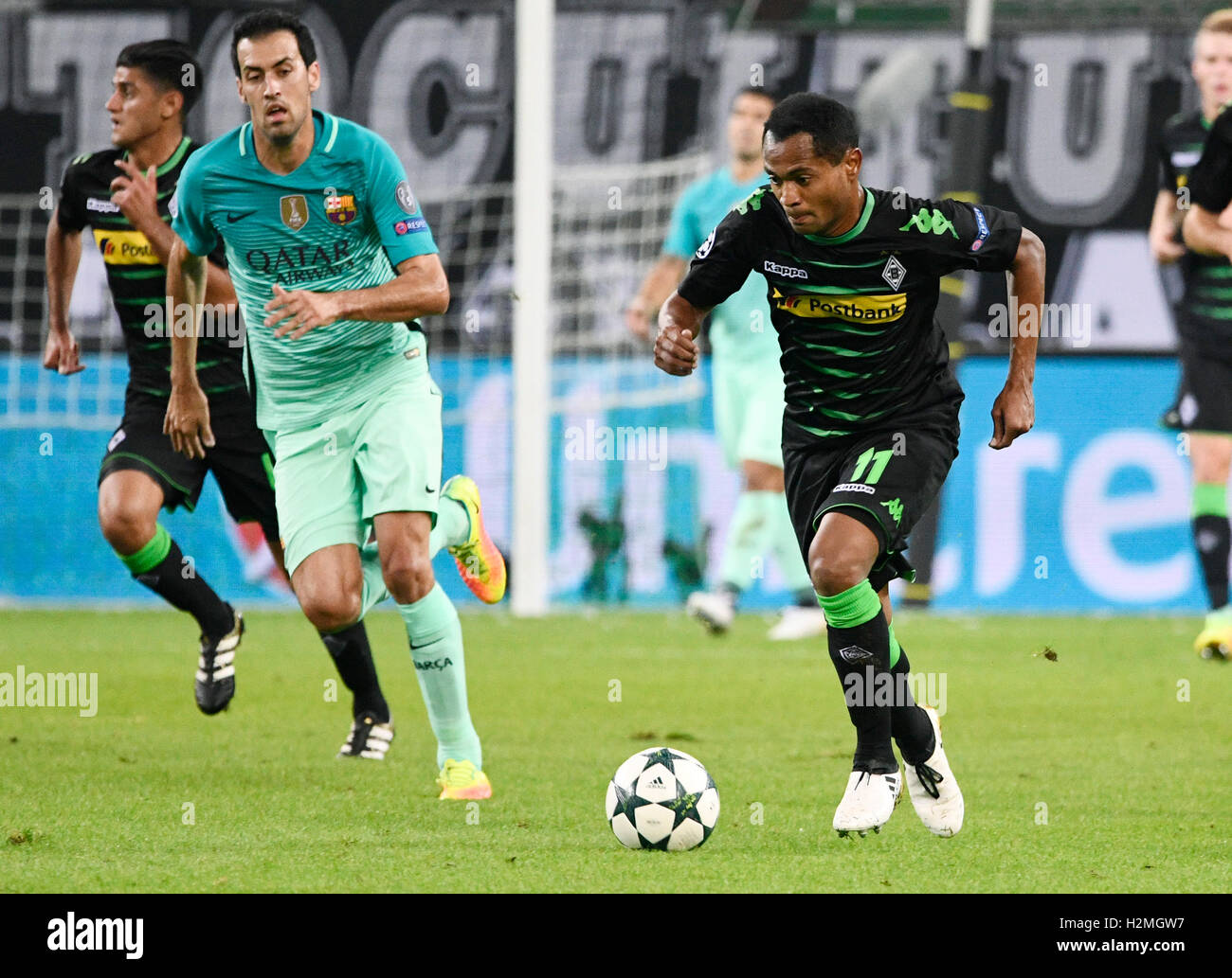 Borussia Park Mšnchengladbach, Germany 28.9.2016, Champions League Season 2016/17 group stage match day 2, Borussia - Stock Image