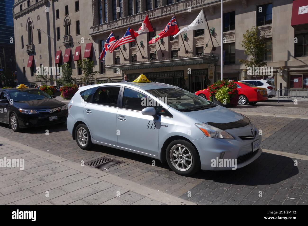 Prius Taxi Hybrid - Stock Image