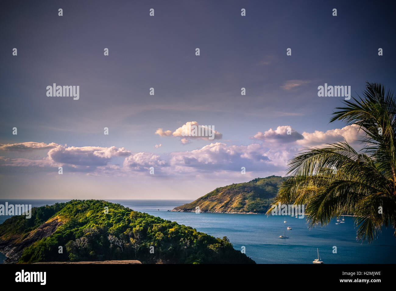 Phuket, viewpoint, boatride, sunset, landscape - Stock Image