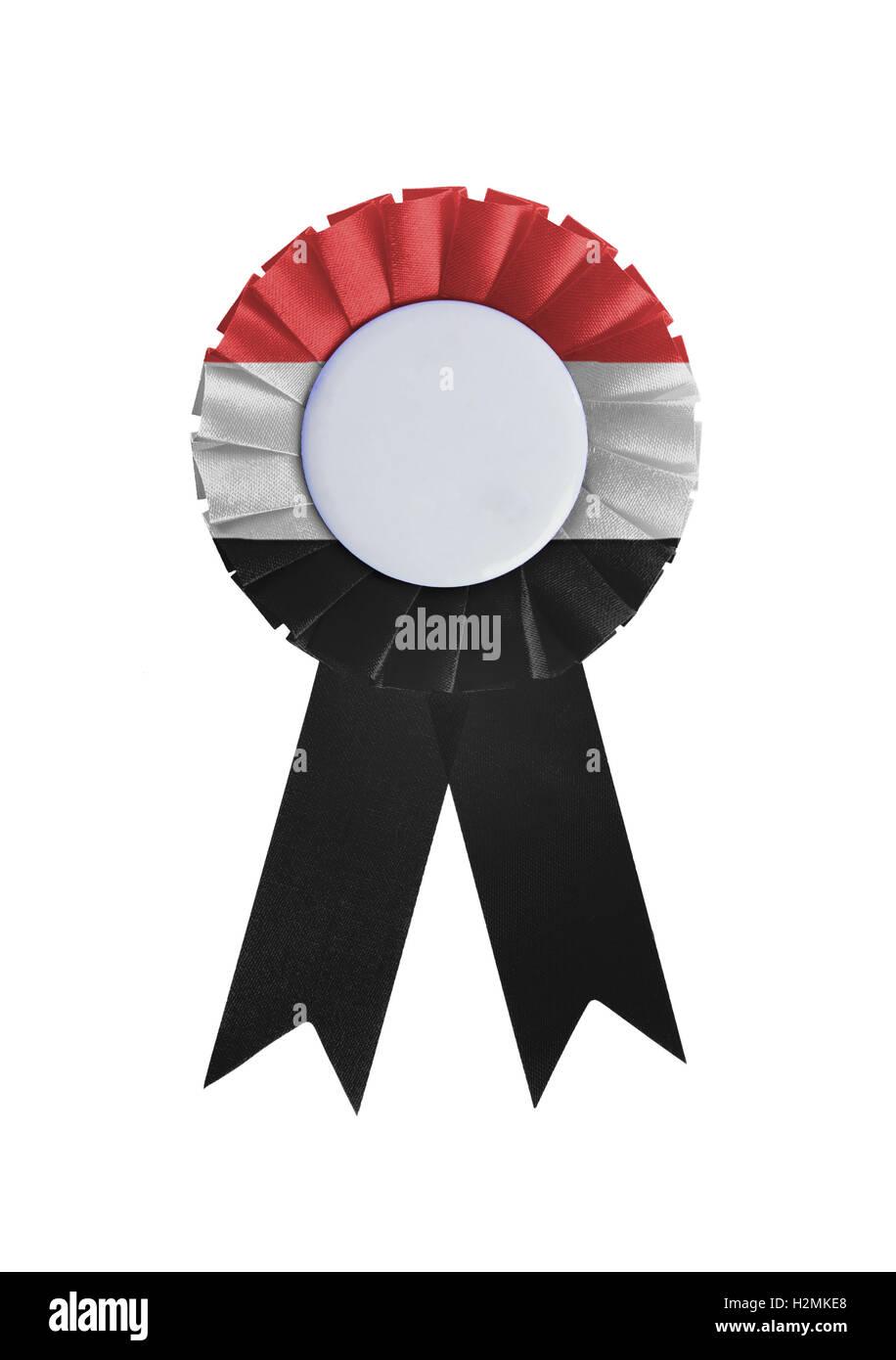 Award ribbon isolated on a white background - Stock Image