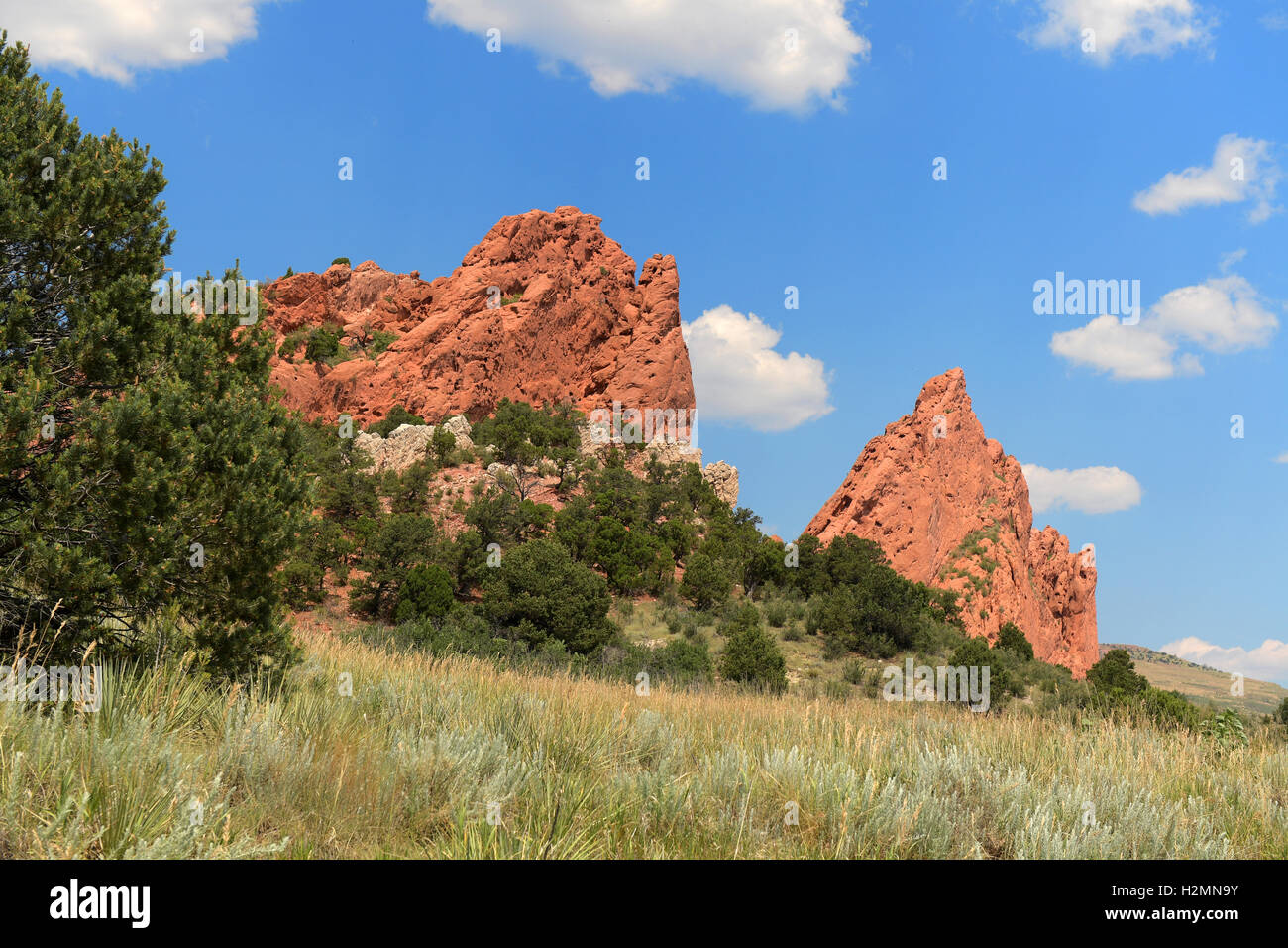 View of Garden of the Gods in Colorado Springs - Stock Image