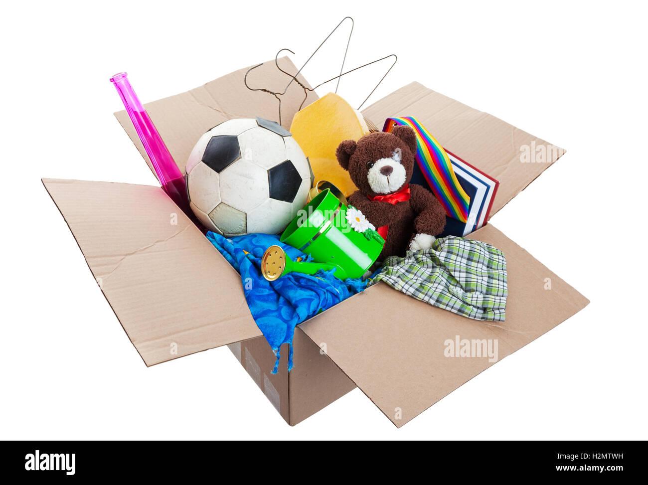 Box of Junk - Stock Image