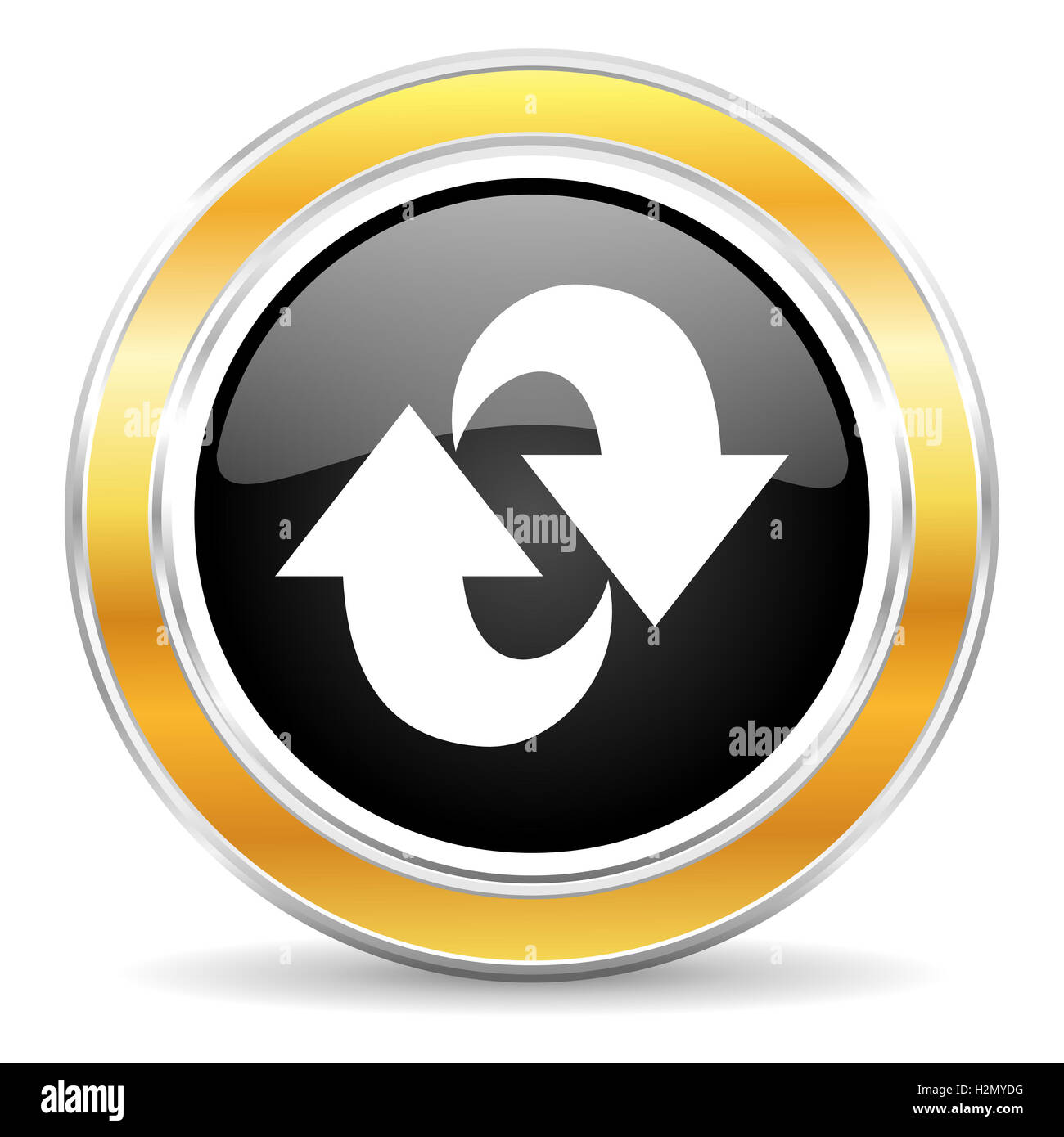 rotation icon - Stock Image